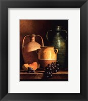 Jugs on a Ledge Framed Print