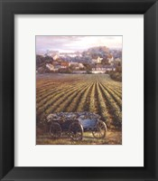 Framed Grapes on Blue Wagon
