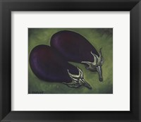 Framed Two Eggplants