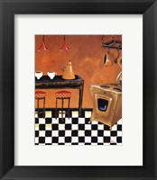 Retro Kitchen III Framed Print