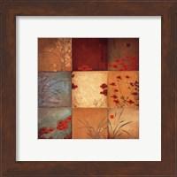 Framed Poppy Nine Patch