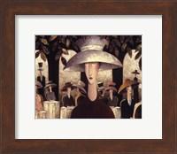 Framed Lady in a Cafe