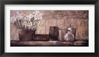 Framed Hyacinth on a Sideboard