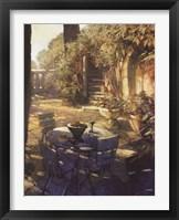 Framed Sunlit Terrace, Crillon le Brave