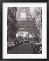 Framed Street View of La Tour Eiffel