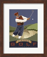 Framed Vintage Golf - Bunker