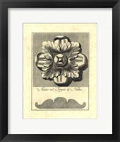 Vintage Rosette And Profile I Framed Print