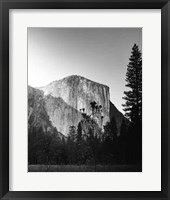 Framed El Capitan In Shadow