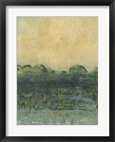 Framed Viridian Marsh I