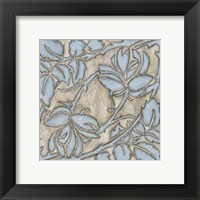 Framed Silver Filigree IX