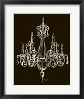 Framed Elegant Chandelier I