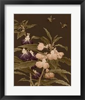 Asian Brocade IV Framed Print