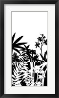 Framed Tropical Silhouette I