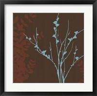 Framed Blue Bough I