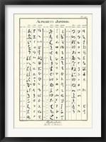Framed Alphabets Japonois