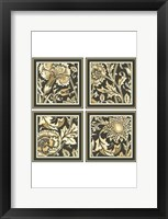 Framed Mini Neutral Floral Motif