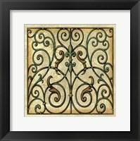 Framed Crackled Decorative Gates I