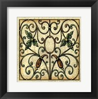 Framed Crackled Decorative Gates II