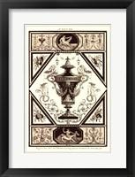 Framed Sepia Pergolesi Urn I
