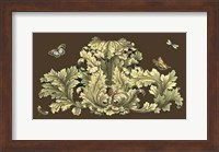 Framed Small Nature's Splendor On Chocolate I