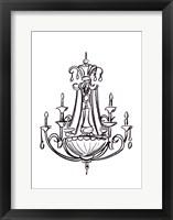 Graphic Chandelier III Framed Print