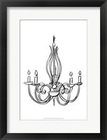 Graphic Chandelier IV Framed Print