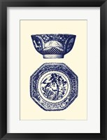 Framed Manor Porcelain In Blue II