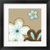 Framed Small Pop Blossoms In Blue I