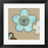 Framed Small Pop Blossoms In Blue II