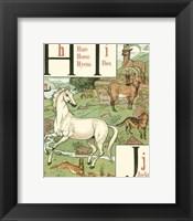 Framed Noah's Alphabet III