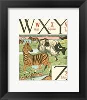 Framed Noah's Alphabet VII