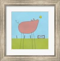 Framed Stick-Leg Pig I