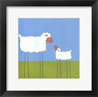 Stick-Leg Sheep I Framed Print