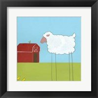 Stick-Leg Sheep II Framed Print