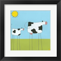 Stick-Leg Cow I Framed Print
