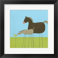 Framed Stick-Leg Horse II