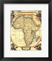 Framed Small Nautical Map Of Africa