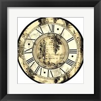 Framed Small Aged Elegance Clock