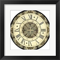 Framed Small Vintage Motif Clock