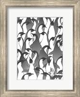 Framed Penguin Family I
