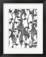 Framed Penguin Family I