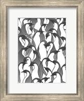 Framed Penguin Family II