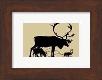 Framed Elk Silhouette I