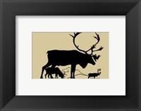 Elk Silhouette I Framed Print
