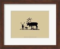 Framed Elk Silhouette II