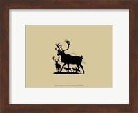 Framed Elk Silhouette IV