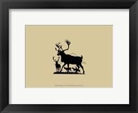 Elk Silhouette IV Framed Print