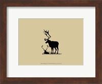 Framed Elk Silhouette VI