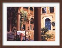 Framed Lemon Scented Courtyard