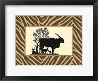 Framed Serengeti Silhouette I